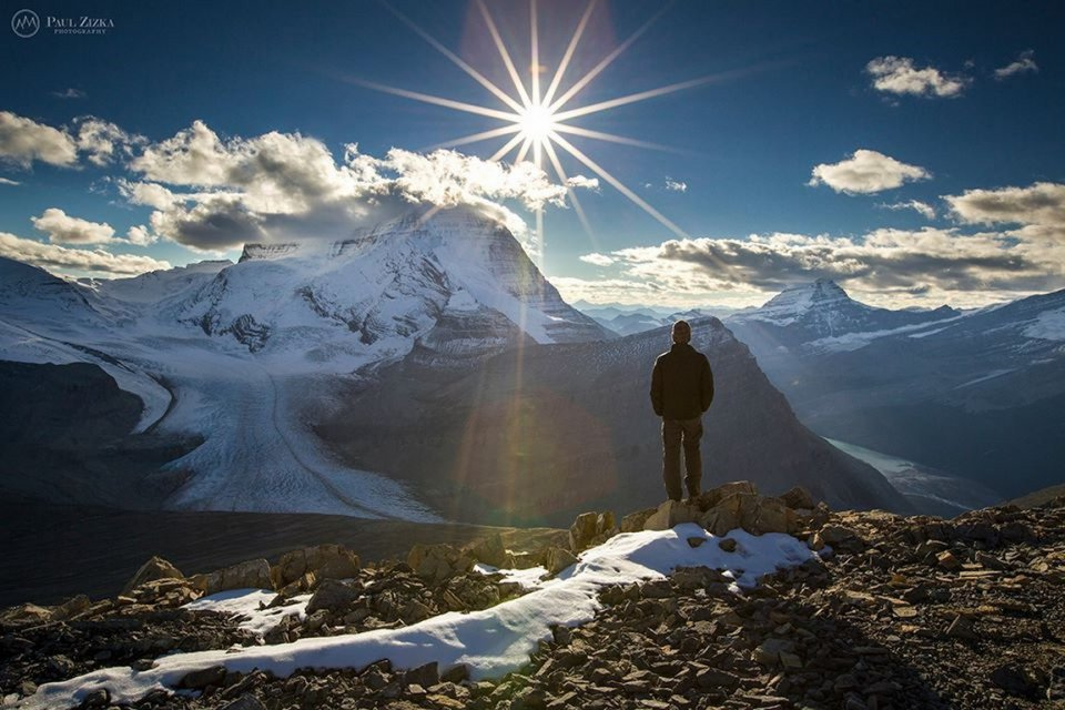"""Sunset over Mount Robson"""