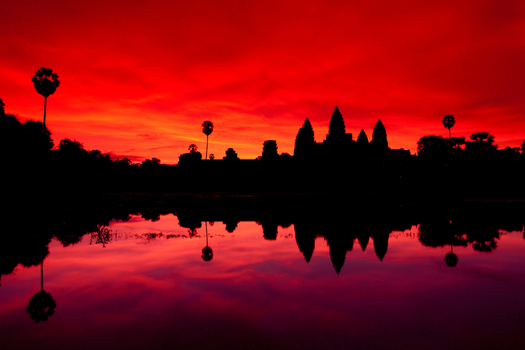 angkor-sunset